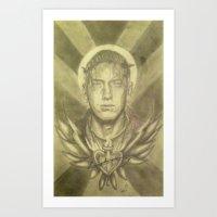 rap Art Prints featuring Rap God by SerpienteFineArts