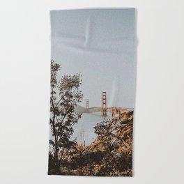 san francisco, california Beach Towel