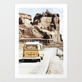 Boho Van Desert Road Trip  Art Print