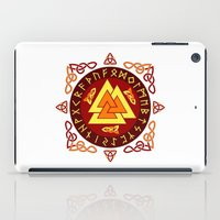 nordic iPad Cases featuring Nordic Valknut by Spiro Vasilevski