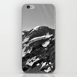 glacier end 3 kaunertal alps tyrol austria europe black white iPhone Skin