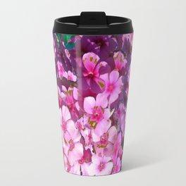 PURPLE-PINK PHLOX FLOWERS AVOCADO ART Travel Mug