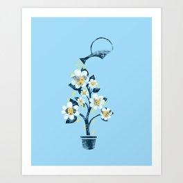 Canine Flowers Art Print