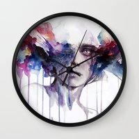 agnes Wall Clocks featuring l'assenza by agnes-cecile