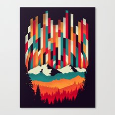 Sunset in Vertical Multicolor Canvas Print