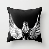 angel wings Throw Pillows featuring Angel Wings by Shaunia McKenzie