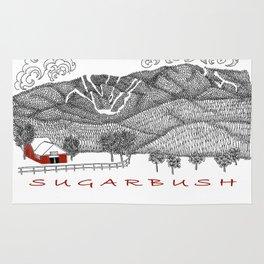 Sugarbush Vermont Serious Fun for Skiers- Zentangle Illustration Rug