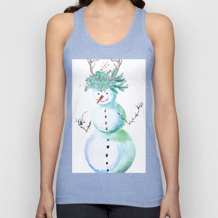 SNOWMAN PARTY ANIMAL Unisex Tank Top