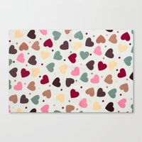 preppy Canvas Prints featuring Preppy Hearts by Welovepillows