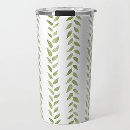 Matcha Greens - nature spring leaves green pattern Travel Mug