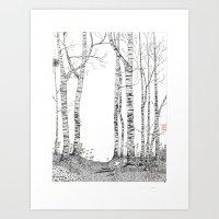 birch Art Prints featuring Birch by Yvonne Jansen