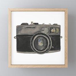 Film Camera Framed Mini Art Print