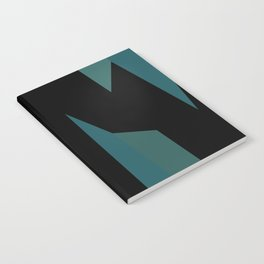 teal and black abstract Notebook