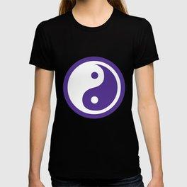 Yin and Yang - Purple & White T-shirt