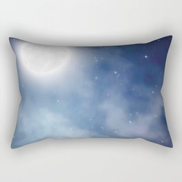 Night sky moon Rectangular Pillow