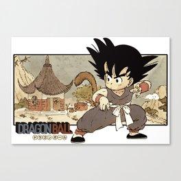 Son Goku On Mt. Paozu Canvas Print