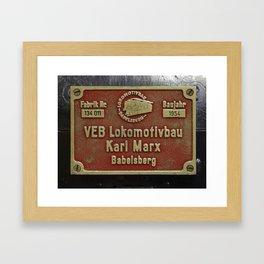 VEB Lokomotivbau Karl Marx, Babelsberg Framed Art Print