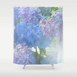 Hydrangeas Glow Shower Curtain
