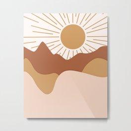 Sunrise Mountains Metal Print