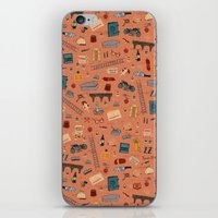 budapest hotel iPhone & iPod Skins featuring Budapest Hotel Plot Pattern by QRS Patterns