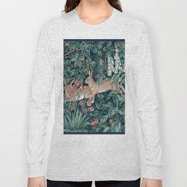 William Morris Forest Rabbits and Foxglove Long Sleeve T-shirt