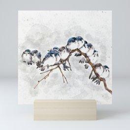 12 on a twig Mini Art Print