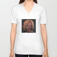 jessica lange V-neck T-shirts featuring Jessica Lange by zinakorotkova