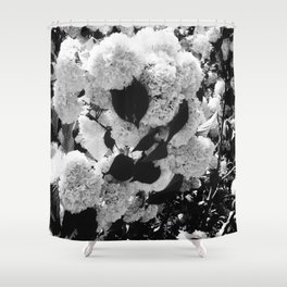 Black and White Snowballs Shower Curtain