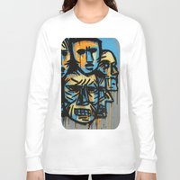talking heads Long Sleeve T-shirts featuring Heads by andres lozano