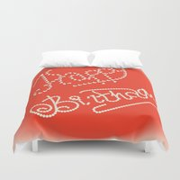 happy birthday Duvet Covers featuring happy birthday by luiza13