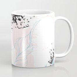 Exotic leaves on grunge background Coffee Mug