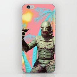 Creature of the pastel lagoon iPhone Skin