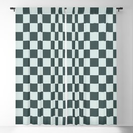 Checkerboard Pattern Inspired By Night Watch PPG1145-7 & Cave Pearl PPG1145-3 Blackout Curtain