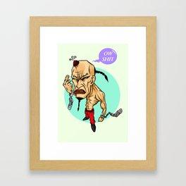 angry guy Framed Art Print