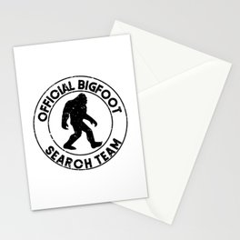 Official Bigfoot Search Team Stationery Cards