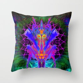 Lord Rokklu From Orion (Vallios Visual Kung Fu Collab) Throw Pillow