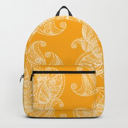 White and Yellow Feathers Backpack