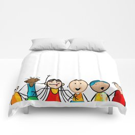Smiling faces Comforters