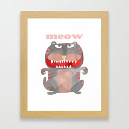Monster Meow Cat Framed Art Print