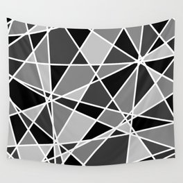 Shattered Charcoal Wall Tapestry