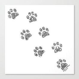 Cat tracks Canvas Print