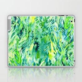 Jungle green watercolor Laptop & iPad Skin