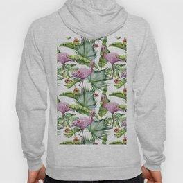 Flamingo Jungle #society6 #buyart Hoody