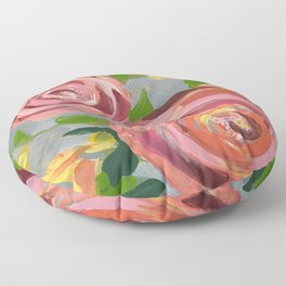 Platinum Rose Floor Pillow