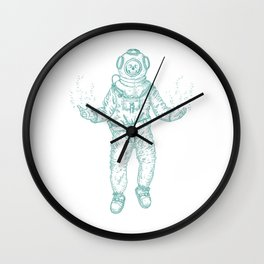 Diver (Nautical Collection) - Turquoise Wall Clock
