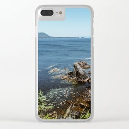 Alaska Cliff Clear iPhone Case