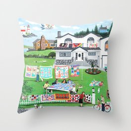 Cat Lovers Society Throw Pillow