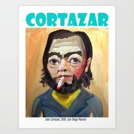 Julio Cortazar by Diego Manuel Art Print