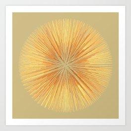 Burst (ochre) Art Print