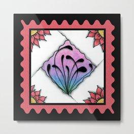 Fescu Tile on Pink Metal Print
